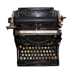 Old fashioned typewriter